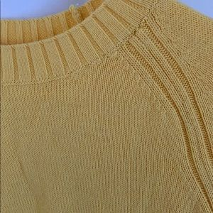 Old Navy yellow crew neck sweater size XS